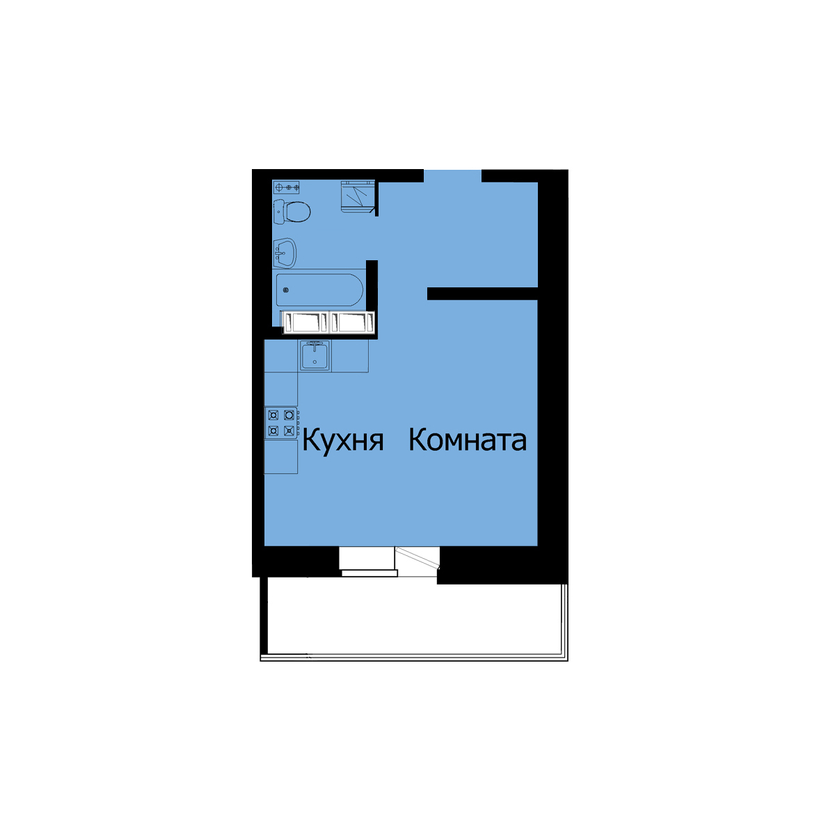 Планировка квартиры Студия