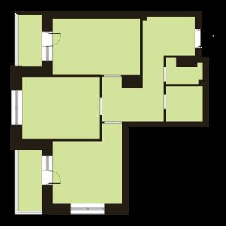 Двухкомнатная квартира на Парнасе