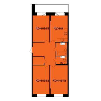 трехкомнатная квартира, двухсторонняя, большая кухня, прагма парк